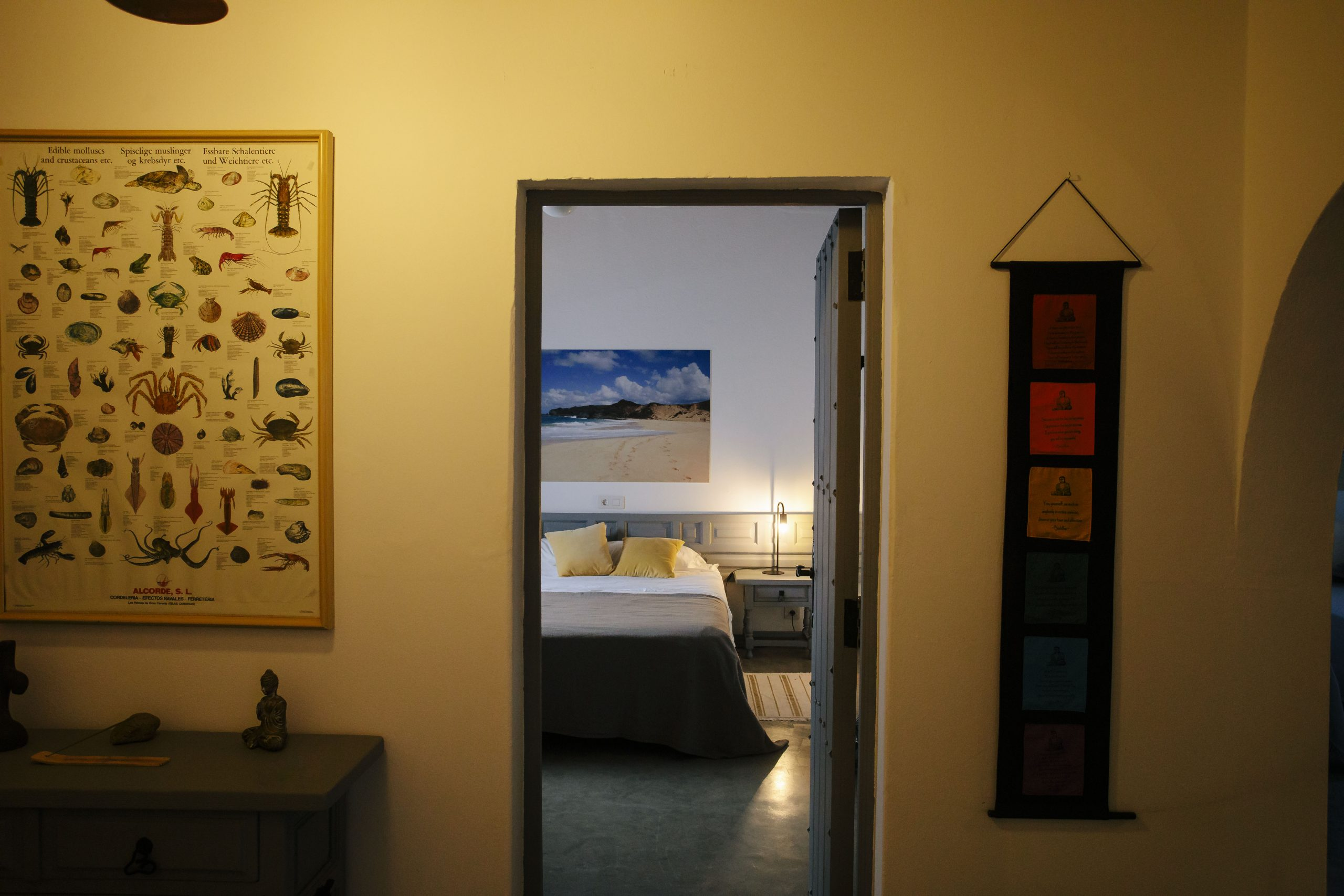 BEDROOM 1, VIEW FROM THE ENTRY