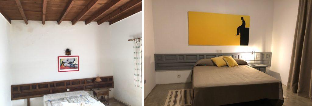 renovación, trasnformación, dormitorio 2, villa relax, su casa en el paraiso, felicidad, La Graciosa