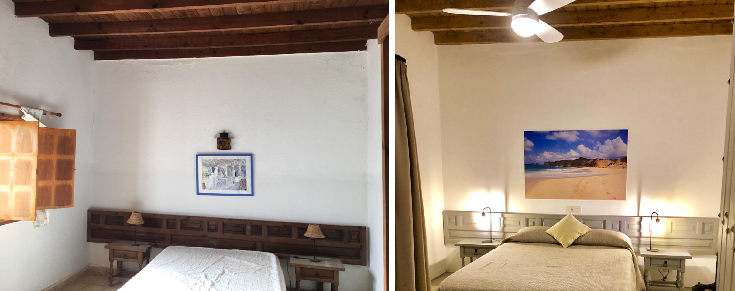 renovación, trasnformación, dormiotrio 1, villa relax, su casa en el paraiso, felicidad, La Graciosa